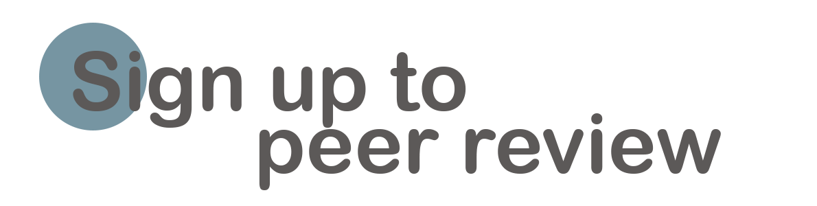 Sign up to Peer Review logo